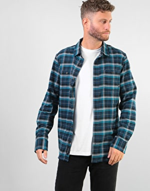 Vans Banfield III L/S Shirt - Dress Blues-Corsair