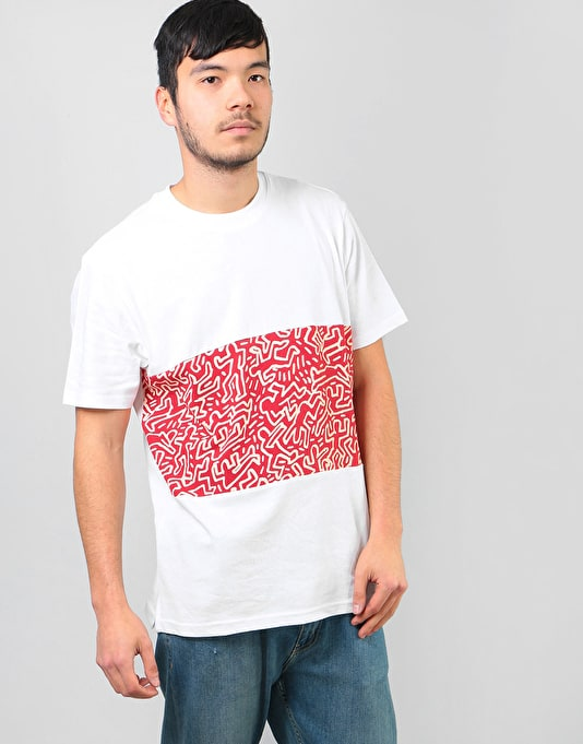 ff935447c1 Keith X Element Shirt Haring Graphic T Kh Optic Big Panel White ...
