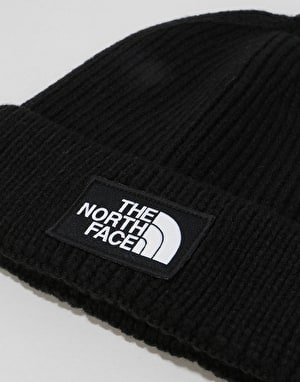 The North Face Logo Box Cuffed Beanie -TNF Black