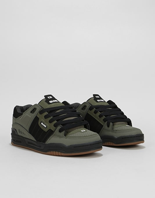 Globe Fusion Skate Shoes - Dusty Olive/Black