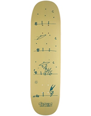 Theories How They Got Here UFO Shape Skateboard Deck - 8.5
