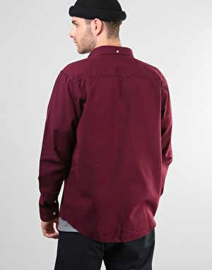 Carhartt L/S Dalton Shirt - Mulberry/Dark Navy (Heavy Rinsed)