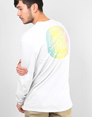 Santa Cruz MFG Dot Fade L/S T-Shirt - White