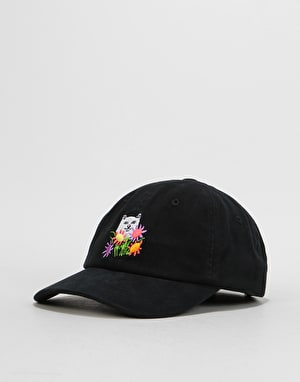 RIPNDIP Flowers For Bae Over Dye Dad Cap - Black