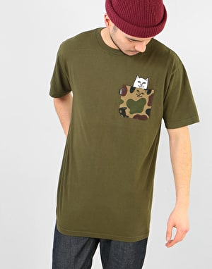 RIPNDIP Lord Nermal Camo Pocket T-Shirt - Army Camo