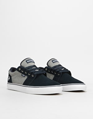Etnies Barge LS Skate Shoes - Navy/Grey/Silver
