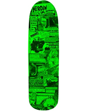 Heroin 'Questions' Scott Zines Skateboard Deck - 9
