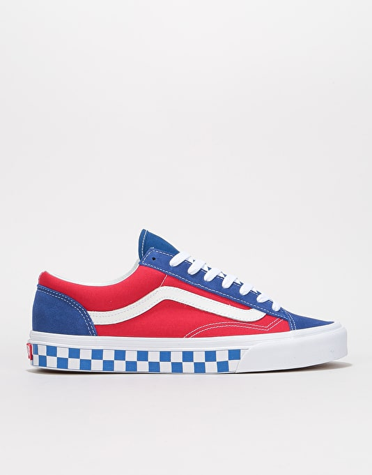 Vans Style 36 Skate Shoes - (BMX Checkerboard) True Blue Red  4fa3fa678