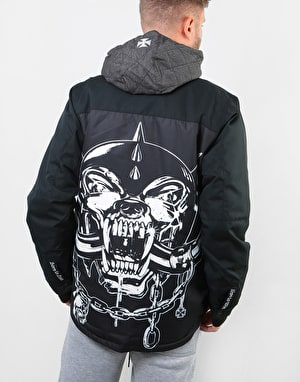 686 x Motorhead Insulated 2019 Snowboard Jacket - Black Sublimation