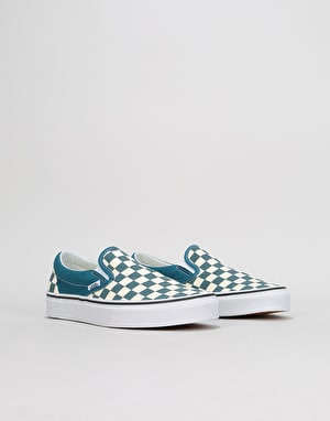 Vans Slip-On Womens Trainers - (Checkerboard) Corsair/True White