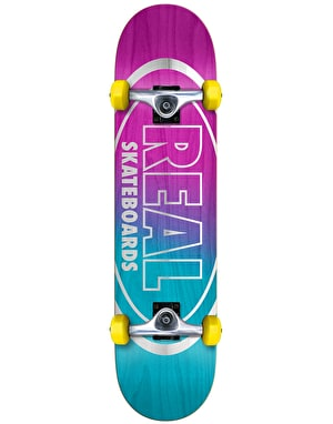 Real Metallic Oval Fades Complete Skateboard - 7.5