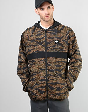 Adidas Camo BB Packable Jacket - Camo Print/Black/Collegiate Orange