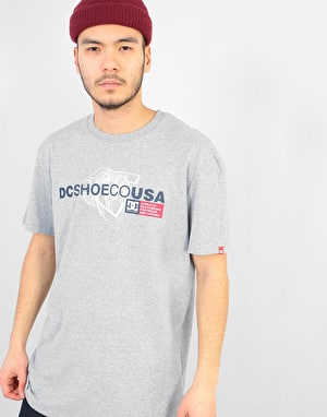 DC Strip Box T-Shirt - Grey Heather