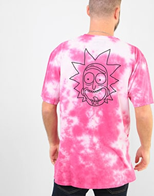 Primitive x Rick & Morty Rick Outline Tie-Dye T-Shirt - Pink Tie Dye