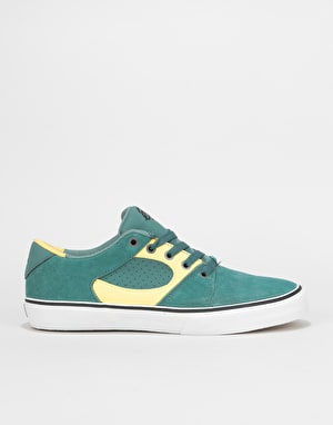 éS Square Three Skate Shoes - Green/Gold