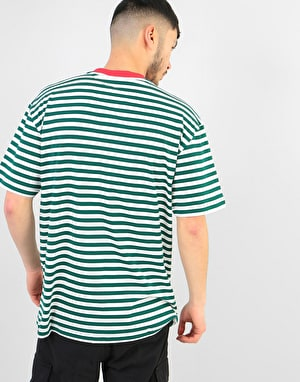 Butter Goods Classic Stripe T-Shirt - Forest Green