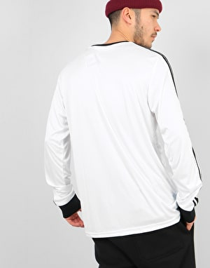 Adidas Club Jersey L/S T-Shirt - White/Black