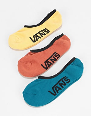 Vans Classic 3 Pack Super No Show Socks - Corsair