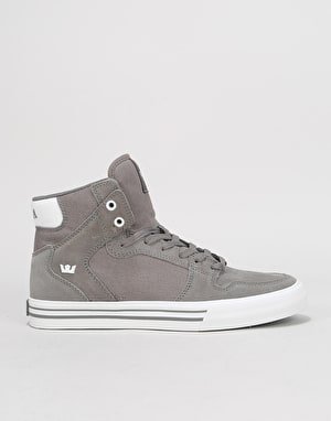 Supra Vaider Skate Shoes - Charcoal/White