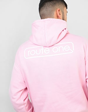 Route One Protection Pullover Hoodie - Baby Pink