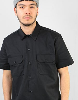 Dickies Short Sleeve Slim Shirt - Black