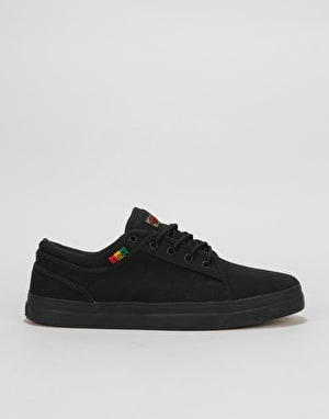 DVS Aversa+ Skate Shoes - Black/Rasta Canvas