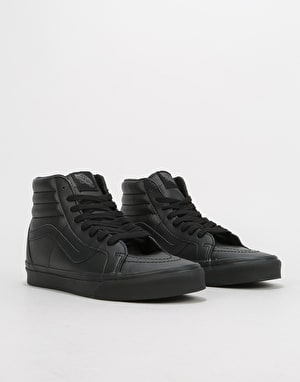 Vans Sk8-Hi Reissue Skate Shoes - (Classic Tumble) Black Mono