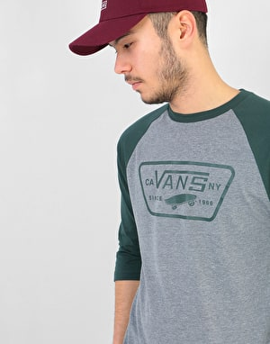 Vans Full Patch Raglan T-Shirt - Heather Grey/Darkest Spruce