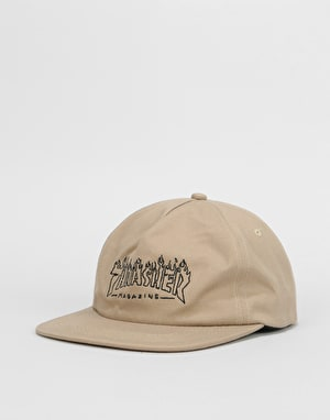 Thrasher Witch Snapback Cap - Tan