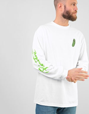 Primitive x Rick & Morty Pickle Rick L/S T-Shirt - White