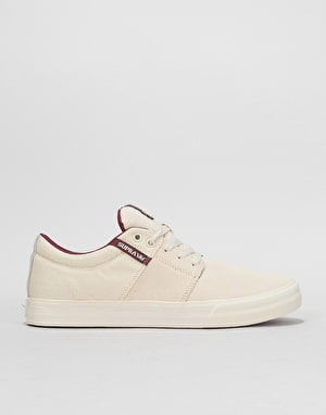 Supra Stacks Vulc II Skate Shoes - Off White/Off White