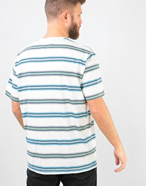 Patagonia Squeaky Clean Pocket T-Shirt - Tarkine Stripe: Pelican