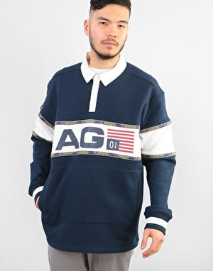 Analog Squam L/S Rugby Shirt - Mood Indigo