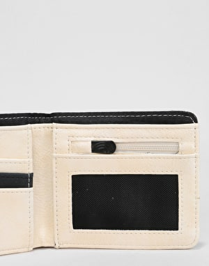 Volcom Slim Stone PU Wallet - Dirty White