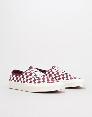 Vans Authentic Skate Shoes - (Checkerboard) Port Royale/Marshmallow