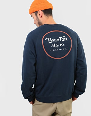 Brixton Wheeler Crew - Navy/Orange