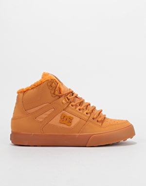DC Pure HT WC WNT Skate Shoes - Wheat/White