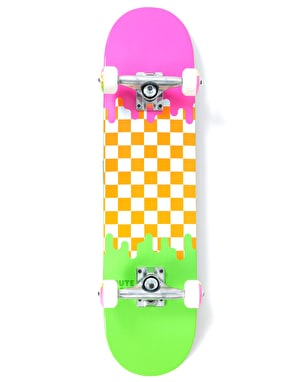 Route One Check Drip Mini Complete Skateboard - 7.25