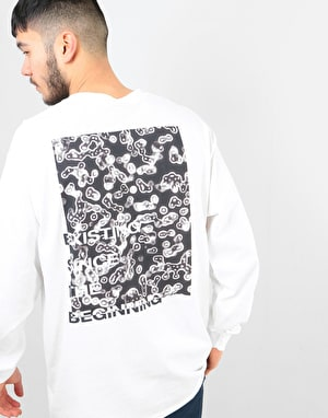 Route One Cells LS T-Shirt - White