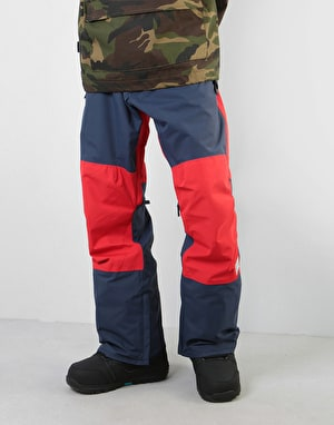 Analog Cinderblade 2019 Snowboard Pants - Mood Indigo/Process Red