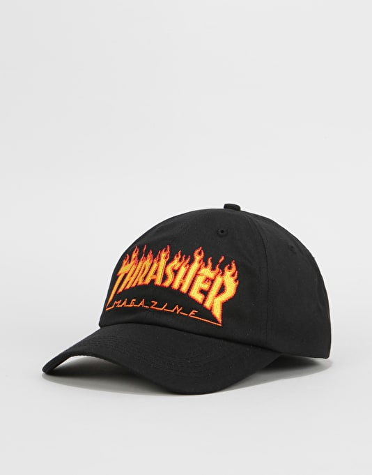 Thrasher Flame Old Timer Strapback Cap - Black  8e34290df01
