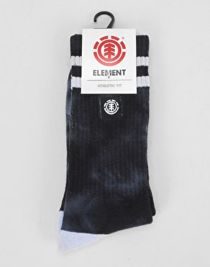 Element Cloudy Socks - Black Tie Dye