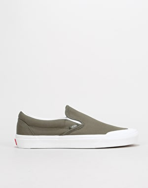 Vans Classic Slip-On Skate Shoes - (Canvas) Grape Leaf/True White