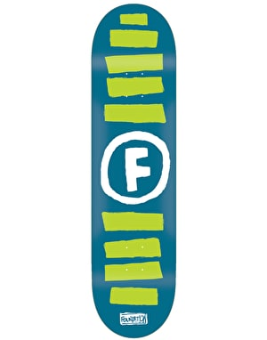 Foundation Doodle Stripe Skateboard Deck - 8.25