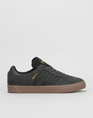 Adidas Busenitz Vulc Skate Shoes - Solid Grey/Core Black/Gum