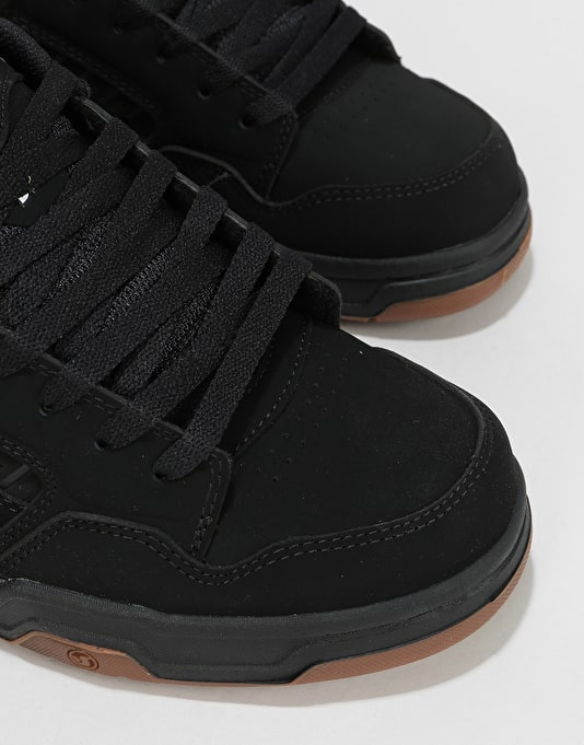 DVS Enduro Heir Skate Shoes - Black/White/Black Nubuck