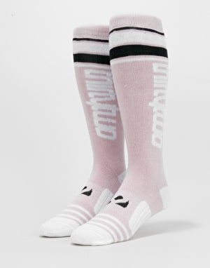 ThirtyTwo Stripe Graphic Snowboard Socks - Pastel