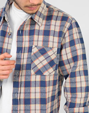 Brixton Hoffman L/S Flannel Shirt - Blue/Grey
