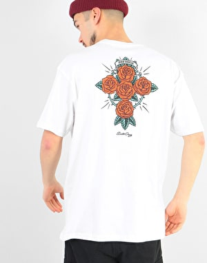 Santa Cruz Dressen Rose Cross T-Shirt - White