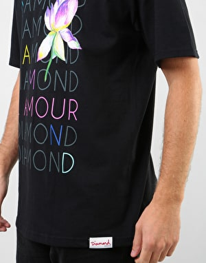 Diamond L'Amour Diamond T-Shirt - Black